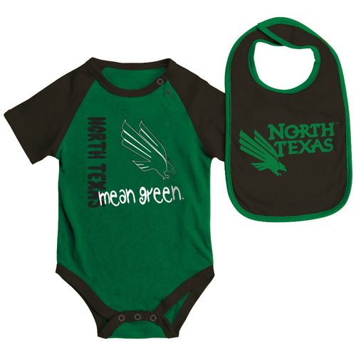 Colosseum Athletics Infants' University of North Texas Rookie Onesie and Bib Set - view number 1