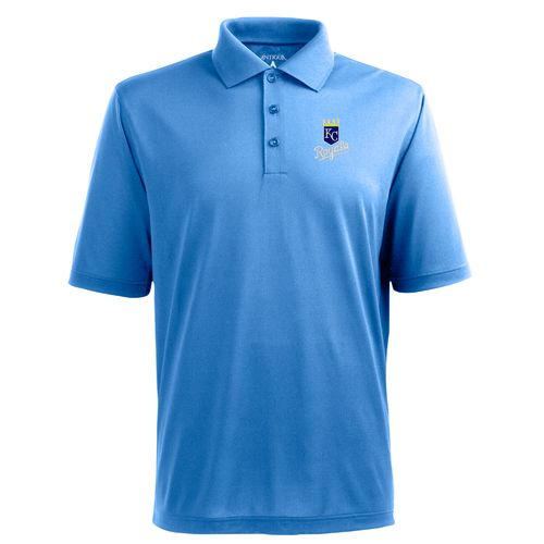 Antigua Men's Kansas City Royals Piqué Xtra-Lite Polo Shirt