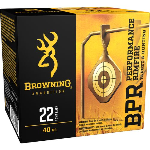 Display product reviews for Browning Performance .22 LR 40-Grain Rimfire Ammunition