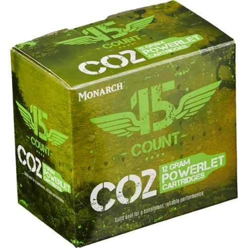 Monarch® 12-Gram Powerlet CO₂ Cartridges 15-Pack