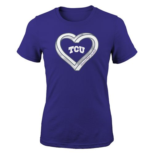 Gen2 Girls' Texas Christian University Infinite Heart Fashion Fit T-shirt