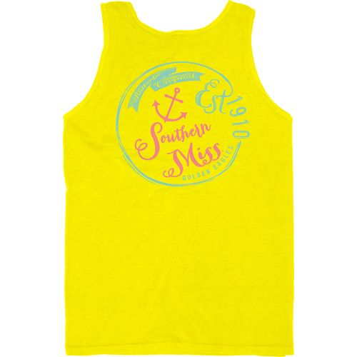 Blue 84 Men's University of Southern Mississippi Overdyed Neon Tank Top