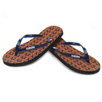 Forever Collectibles™ Women's Auburn University Glitter Logo Flip-Flops