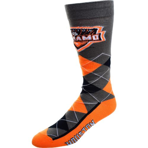 FBF Originals Men's Houston Dynamo Argyle Zoom Dress Socks