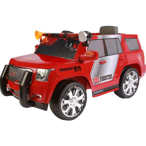 Display product reviews for RollPlay 6V Yukon Denali Fire Rescue Ride-On Vehicle