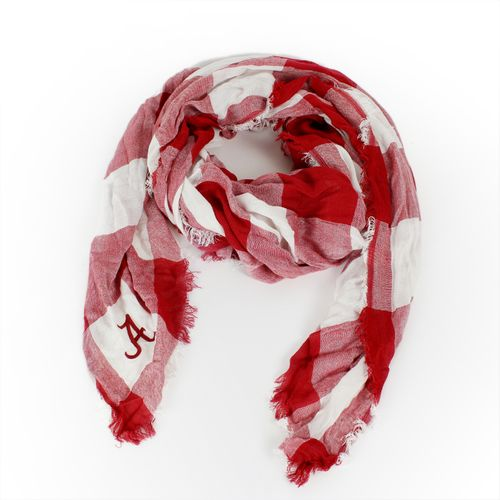 ZooZatz Women's University of Alabama Buffalo Check Collegiate Scarf