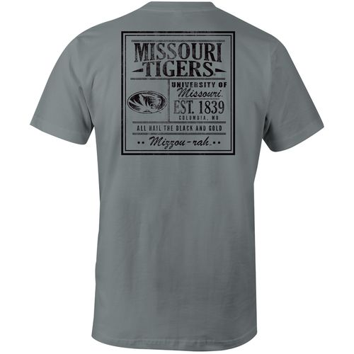 Image One Men's University of Missouri Comfort Color Vintage Poster Short Sleeve T-shirt