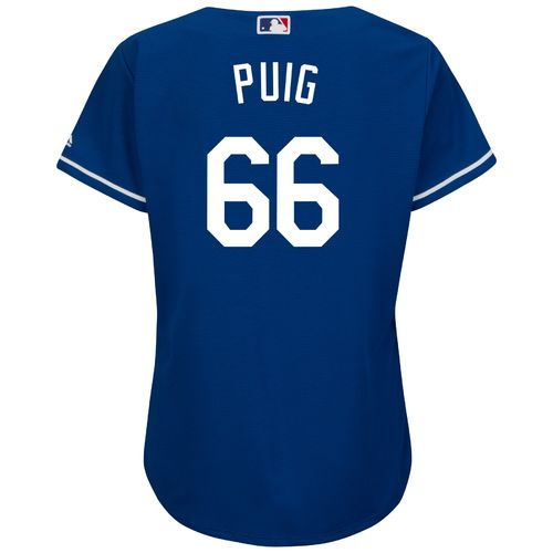 Display product reviews for Majestic Women's Los Angeles Dodgers Yasiel Puig #66 Authentic Cool Base Jersey