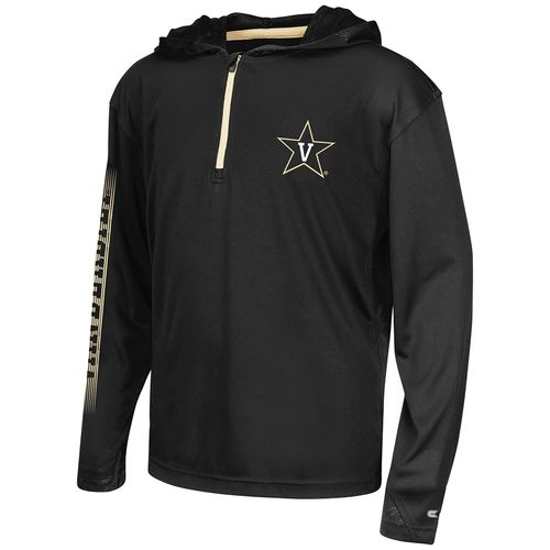 Colosseum Athletics™ Boys' Vanderbilt University Sleet 1/4 Zip Hoodie Windshirt