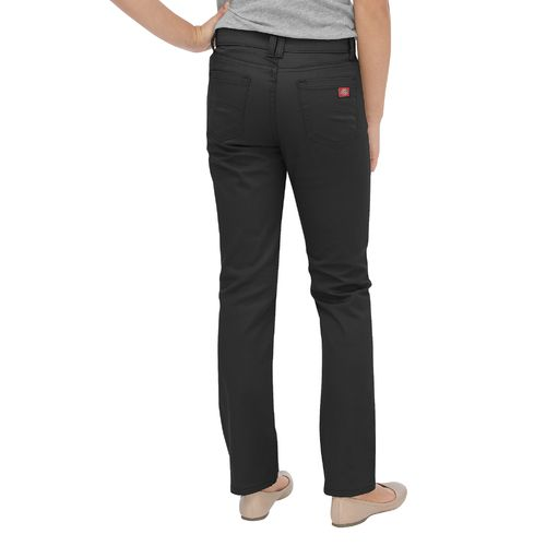 Dickies Girls' Skinny Fit Straight Leg 5-Pocket Stretch Twill Uniform Pant - view number 2