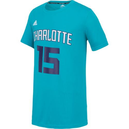 adidas Boys' Charlotte Hornets Kemba Walker No. 15 Flat Player T-shirt - view number 2