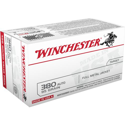 Winchester Full Metal Jacket .380 Automatic 95-Grain Ammunition - view number 1