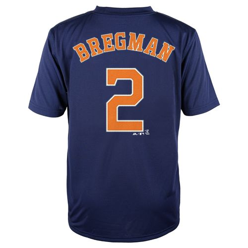 Majestic Boys' Houston Astros Alex Bregman #2 Name and Number T-shirt