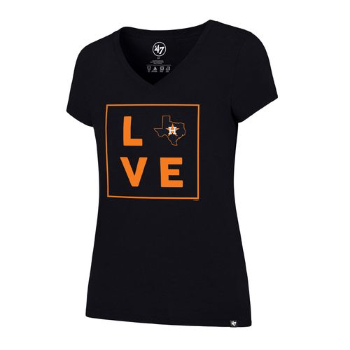 '47 Houston Astros Women's Love Club V-Neck T-shirt