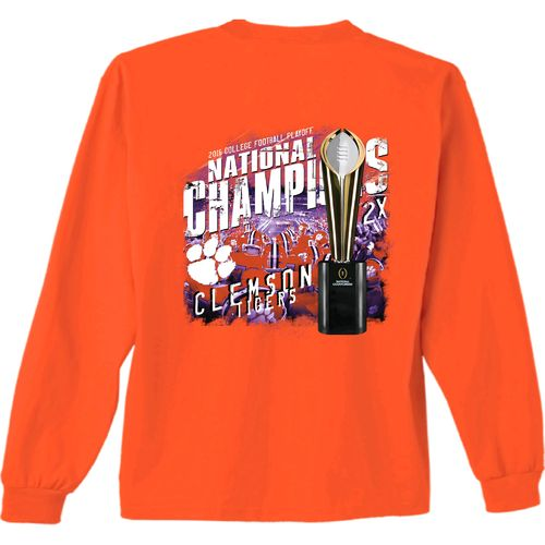 New World Graphics Men's Clemson University 2016 National Champions Trophy Long Sleeve T-shirt