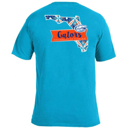 Image One Women's University of Florida Pattern Scroll State T-shirt