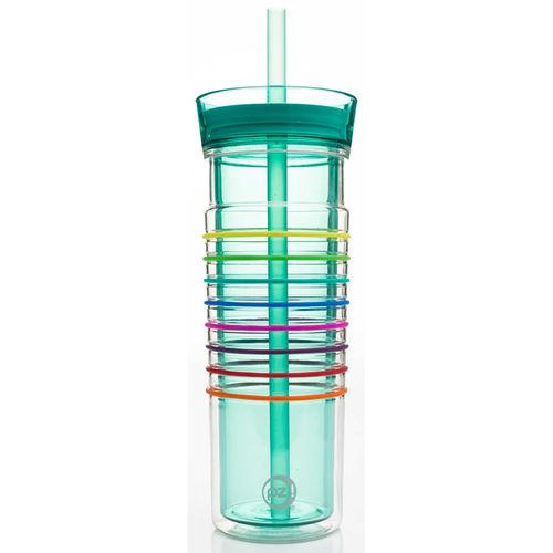 Zak Designs HydraTrak 20 oz Double-Wall Straw Tumbler