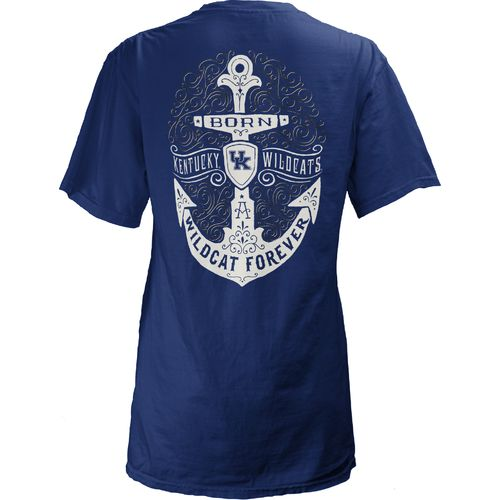 Three Squared Juniors' University of Kentucky Anchor Flourish V-neck T-shirt