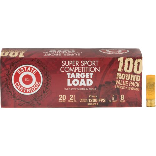 Estate Cartridge Super Sport Competition Target Load 20 Gauge Shotshells - view number 1