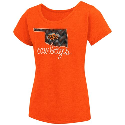 Colosseum Athletics™ Girls' Oklahoma State University Tissue 2017 T-shirt