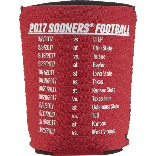 Kolder Kaddy University of Oklahoma 2017 Football Schedule 12 oz Can Insulator - view number 2