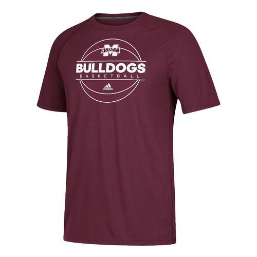 adidas Men's Mississippi State University On Court Basketball T-shirt