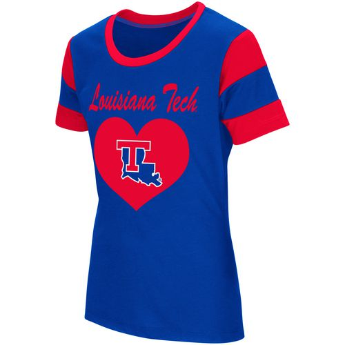 Colosseum Athletics Girls' Louisiana Tech University Bronze Medal Short Sleeve T-shirt