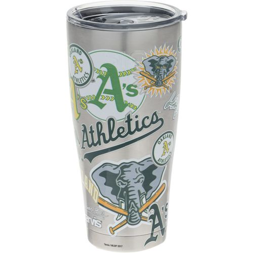 Tervis Oakland Athletics All Over 30 oz Stainless-Steel Tumbler - view number 1