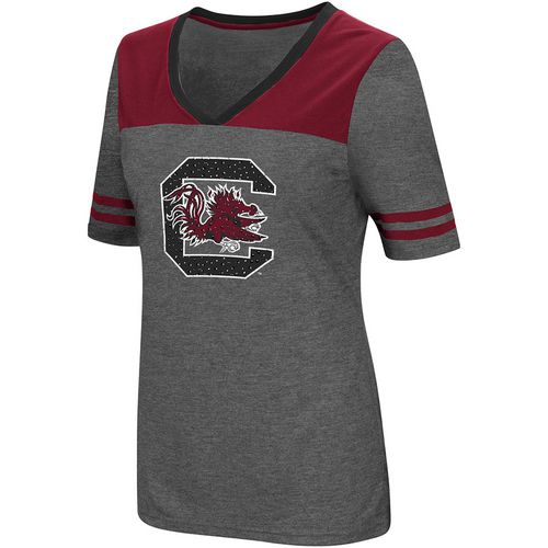 Colosseum Athletics Women's University of South Carolina Twist V-neck 2.3 T-shirt