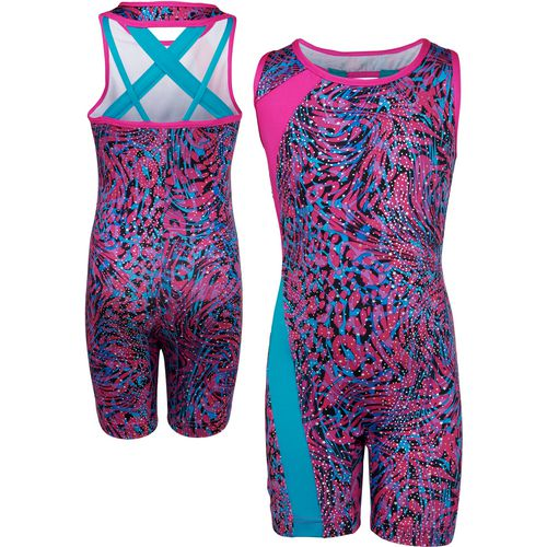 Capezio Girls' Future Star Animal Jungle Biketard with Crisscross Back Strapping