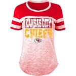 5th & Ocean Clothing Women's Kansas City Chiefs Space Dye Foil Fan Top - view number 1