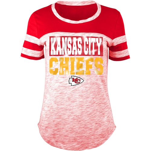5th & Ocean Clothing Women's Kansas City Chiefs Space Dye Foil Fan Top