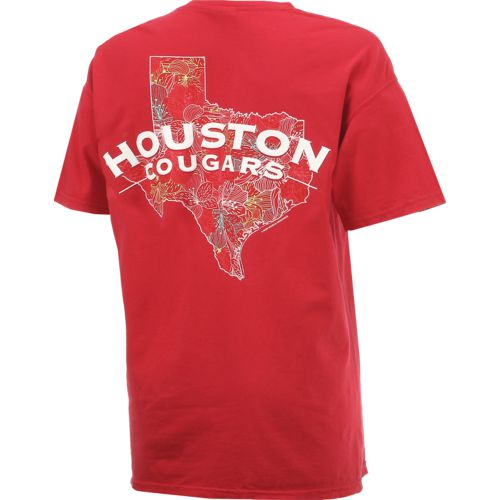 New World Graphics Women's University of Houston Comfort Color Puff Arch T-shirt - view number 2