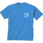 New World Graphics Women's University of Memphis Comfort Color Initial Pattern T-shirt - view number 2