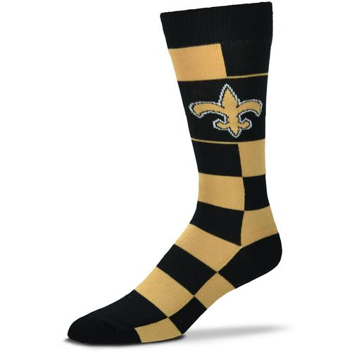 For Bare Feet New Orleans Saints Jumbo Check Thin Knee High Dress Socks