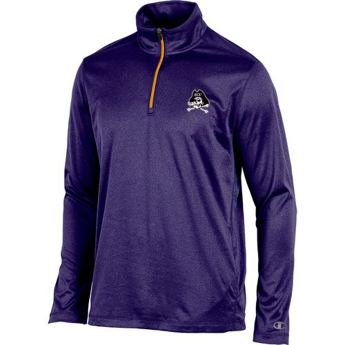 Champion Men's East Carolina University Victory 1/4 Zip Long Sleeve Pullover