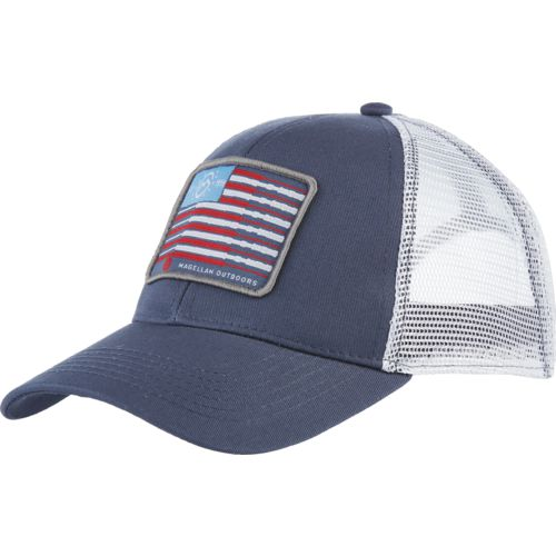 Magellan Outdoors Men's American Fishing Pole Patch Trucker Cap