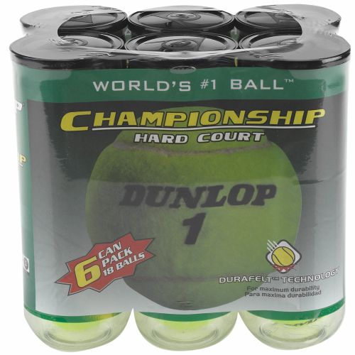 Dunlop Championship Hard-Court Tennis Balls 18-Pack - view number 1