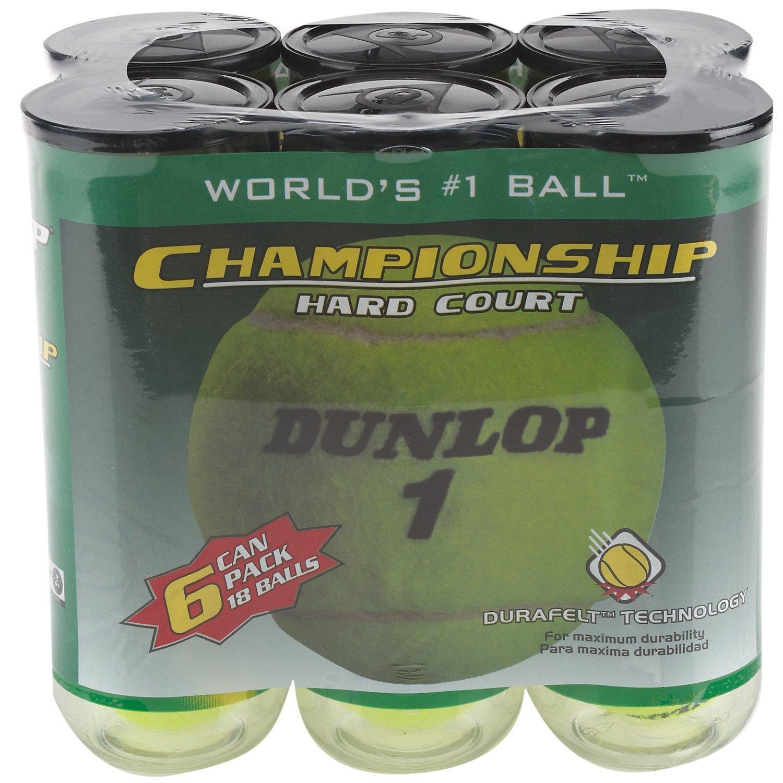 Dunlop Championship Hard-Court Tennis Balls 18-Pack