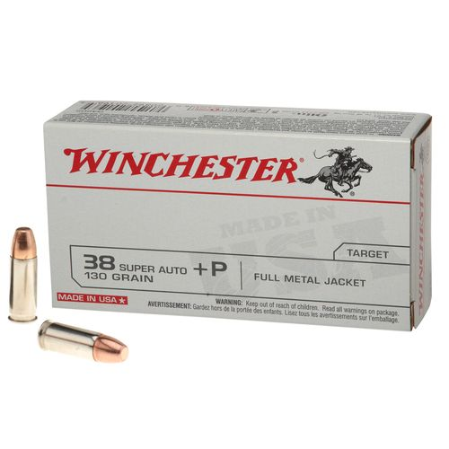 Winchester USA Full Metal Jacket .38 Super Automatic