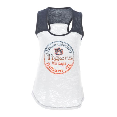 Blue 84 Juniors' Auburn University Burnout Raglan Tank Top