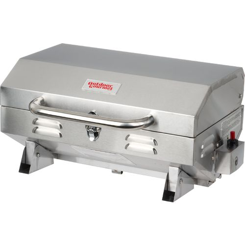 Outdoor Gourmet Stainless Steel Single Burner Gas Tabletop Grill