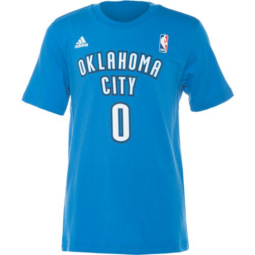 adidas Boys' Oklahoma City Thunder Russell Westbrook No. 00 Flat Game Time T-shirt