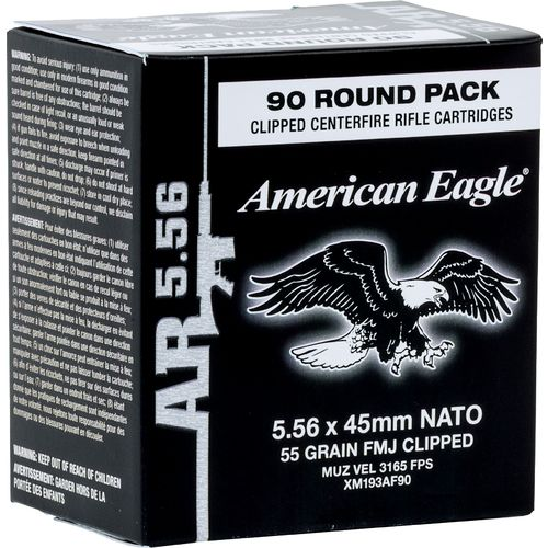Federal Premium American Eagle XM 855 5.56 NATO 55-Grain Centerfire Rifle Ammunition