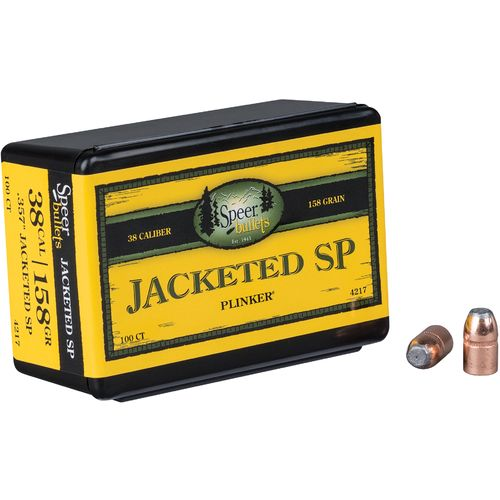 Speer Plinker .38 158-Grain Jacketed Soft-Point Pistol Bullets - view number 2