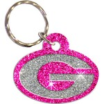 Stockdale University of Georgia Acrylic Freeform Glitter Keychain