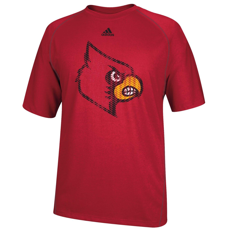 Adidas men 39 s university of louisville razor logo t shirt for Louisville t shirt printing