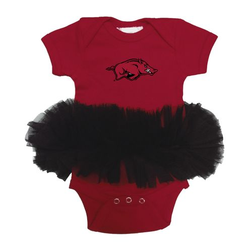 Two Feet Ahead Infant Girls' University of Arkansas Tutu Creeper