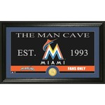 The Highland Mint Miami Marlins Man Cave Bronze Coin Photo Mint