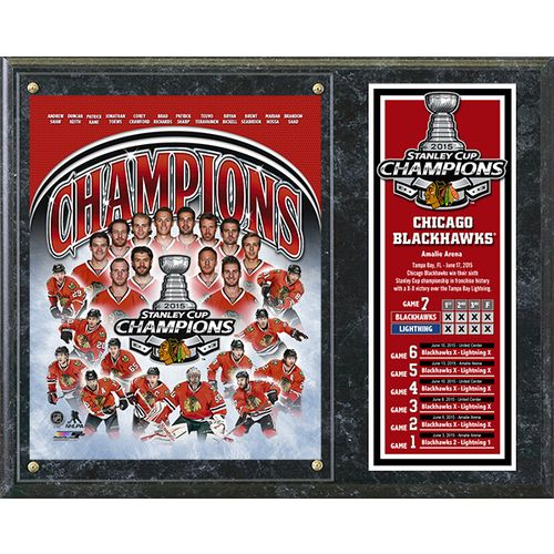 Photo File Chicago Blackhawks 2015 Stanley Cup Champions Composite Plaque
